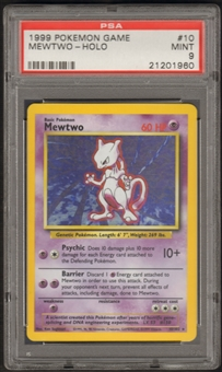 Pokemon Base Set 1 Single Mewtwo 10/102 - PSA 9