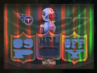 2010 Topps Triple Threads Relic Emerald #TTR98 Chris Johnson /18