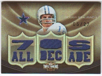 2010  Topps Triple Threads Relic Sepia #TTR155 Roger Staubach /27