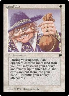 Magic the Gathering Legends Single Land Tax - NEAR MINT (NM)