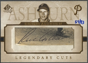2005 SP Legendary Cuts #RI Richie Ashburn Cut Auto #57/83