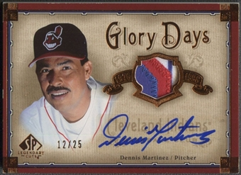 2005 SP Legendary Cuts #DE Dennis Martinez Glory Days Patch Auto #12/25