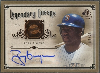 2005 SP Legendary Cuts #TG Tony Gwynn Legendary Lineage Auto #09/25