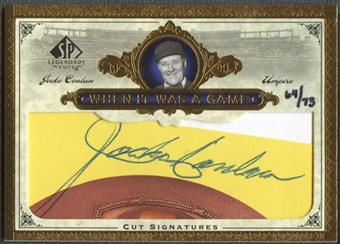 2006 SP Legendary Cuts #JC Jocko Conlan When It Was A Game Cut Auto #64/73