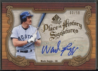 2006 SP Legendary Cuts #WB Wade Boggs Place in History Auto #03/50