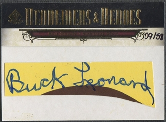 2008 SP Legendary Cuts #BL2 Buck Leonard Headliners and Heroes Cut Signatures Auto #09/58