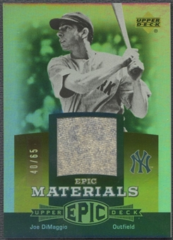 2006 Upper Deck Epic #JD1 Joe DiMaggio Materials Dark Orange Pants #40/65