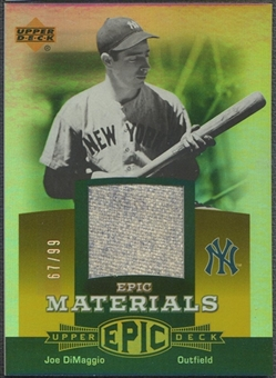2006 Upper Deck Epic #JD3 Joe DiMaggio Materials Orange Pants #67/99