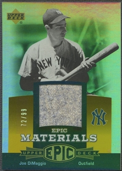 2006 Upper Deck Epic #JD3 Joe DiMaggio Materials Orange Pants #72/99