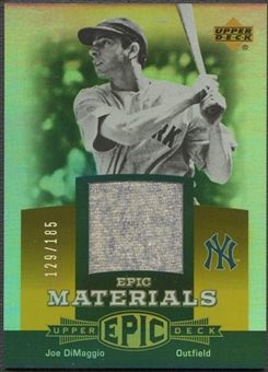 2006 Upper Deck Epic #JD1 Joe DiMaggio Materials Orange Pants #129/185