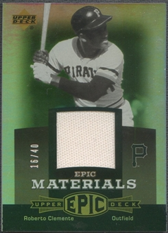 2006 Upper Deck Epic #CL1 Roberto Clemente Materials Grey Pants #16/40