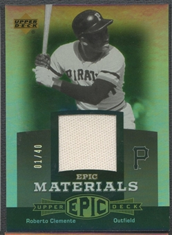 2006 Upper Deck Epic #CL1 Roberto Clemente Materials Grey Pants #01/40