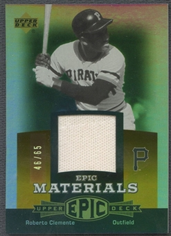 2006 Upper Deck Epic #CL1 Roberto Clemente Materials Dark Orange Pants #46/65