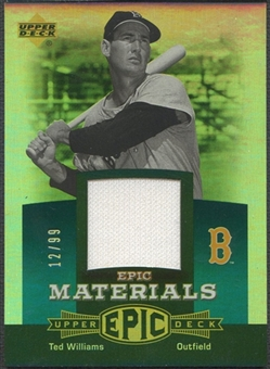 2006 Upper Deck Epic #TW1 Ted Williams Materials Teal Jersey #12/99