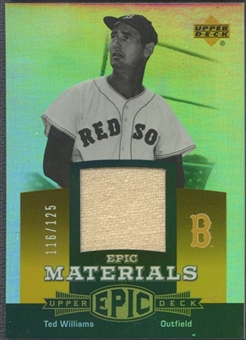 2006 Upper Deck Epic #TW2 Ted Williams Materials Orange Pants #116/125