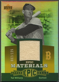 2006 Upper Deck Epic #TW1 Ted Williams Materials Orange Pants #002/125