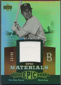 2006 Upper Deck Epic #PR1 Pee Wee Reese Materials Red Jersey #13/99