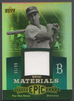 2006 Upper Deck Epic #PR2 Pee Wee Reese Materials Teal Jersey #85/99