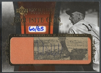 2006 Exquisite Collection #CH Carl Hubbell Cut Auto #60/65