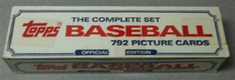 1985 Topps Baseball Factory Set ( Red, White, Blue Box)