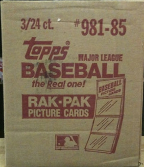 1985 Topps Baseball Rack 3-Box Case
