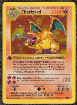 Pokemon Base Set 1 Single 1st Edition Charizard 4/102 - Shadowless MODERATE PLAY