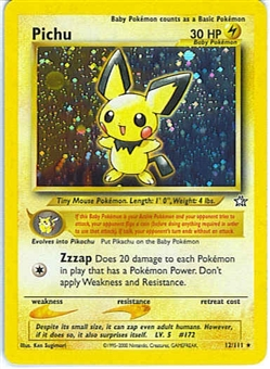 Pokemon Neo Genesis Single Pichu 12/111 - SLIGHT PLAY (SP)
