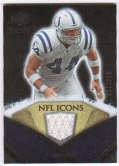 2008 Upper Deck Icons NFL Icons Jersey Silver #NFL17 Dallas Clark /150