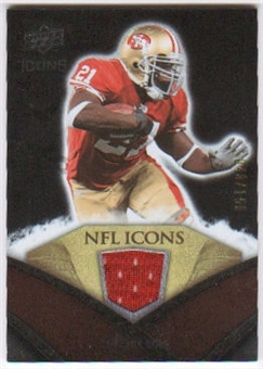 2008 Upper Deck Icons NFL Icons Jersey Silver #NFL22 Frank Gore /150