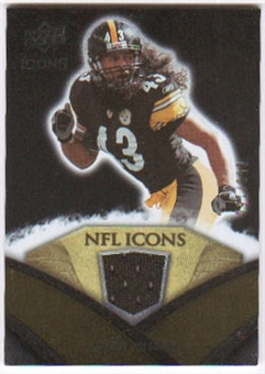 2008 Upper Deck Icons NFL Icons Jersey Silver #NFL47 Troy Polamalu /150