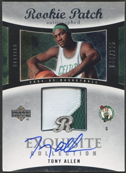 2004/05 Exquisite Collection #48 Tony Allen Rookie Patch Auto #044/225