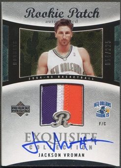 2004/05 Exquisite Collection #63 Jackson Vroman Rookie Patch Auto #054/225