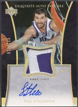 2004/05 Exquisite Collection #PS Peja Stojakovic Patch Auto #013/100