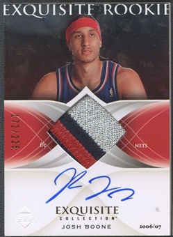 2006/07 Exquisite Collection #62 Josh Boone Rookie Patch Auto #172/225