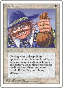 Magic the Gathering 4th Edition Single Land Tax - SLIGHT PLAY (SP)