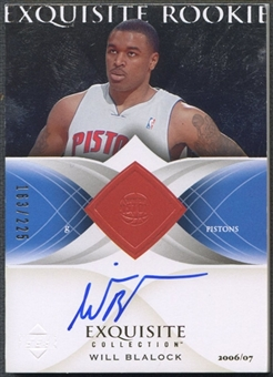 2006/07 Exquisite Collection #81 Will Blalock Rookie Patch Auto #163/225