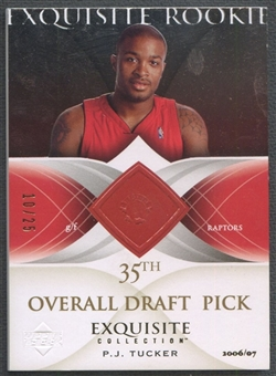 2006/07 Exquisite Collection #73 P.J. Tucker Gold Rookie #10/25