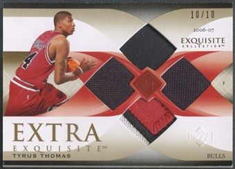 2006/07 Exquisite Collection #EETT Tyrus Thomas Extra Exquisite Jersey & Patch #10/10