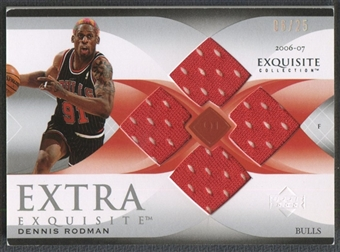 2006/07 Exquisite Collection #EEDR Dennis Rodman Extra Exquisite Jersey #06/25