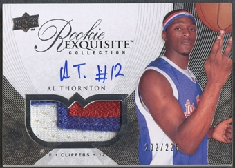 2007/08 Exquisite Collection #92 Al Thornton Rookie Patch Auto #202/225