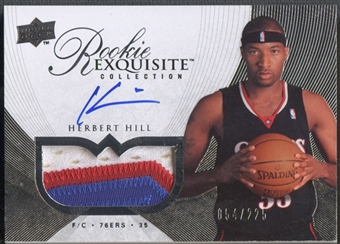 2007/08 Exquisite Collection #65 Herbert Hill Rookie Patch Auto #054/225