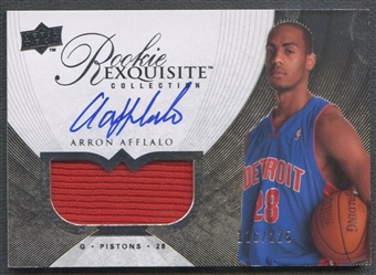 2007/08 Exquisite Collection #61 Arron Afflalo Rookie Patch Auto #116/225