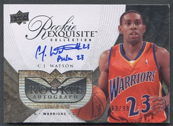 2007/08 Exquisite Collection #98 C.J. Watson Rookie Auto #63/99