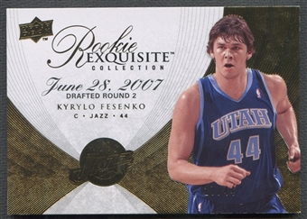 2007/08 Exquisite Collection #107 Kyrylo Fesenko Rookie Parallel #27/44