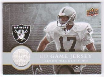 2008 Upper Deck First Edition Jerseys #FGJJW Javon Walker