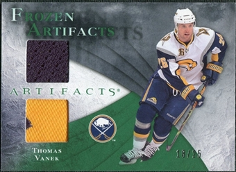 2010/11 Upper Deck Artifacts Frozen Artifacts Jersey Patch Emerald #FATV Thomas Vanek /25