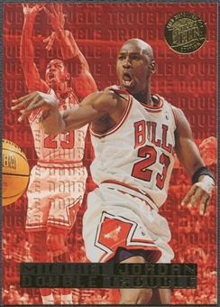 1995/96 Ultra #3 Michael Jordan Double Trouble Gold Medallion
