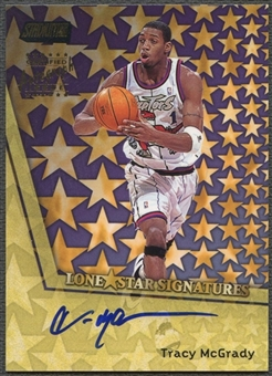 1999/00 Stadium Club #LS10 Tracy McGrady Lone Star Signatures Auto