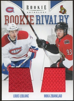 2011/12 Panini Rookie Anthology Rookie Rivalry Dual Jerseys #54 Louis Leblanc/Mika Zibanejad