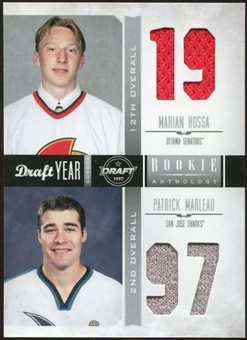 2011/12 Panini Rookie Anthology Draft Year Combo Jerseys #27 Marian Hossa/Patrick Marleau